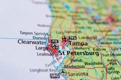 St Petersburg, Florida auf Karte stockbild
