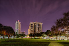 St petersburg florida city skyline and waterfront at night Stock Photography