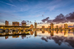 St. Petersburg, Florida. USA downtown city skyline on the bay royalty free stock photo