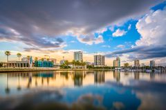 St Petersburg Florida, USA horisont Royaltyfria Bilder