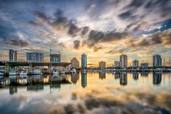 St. Petersburg, Florida, USA. Downtown city skyline on the bay Stock Photography