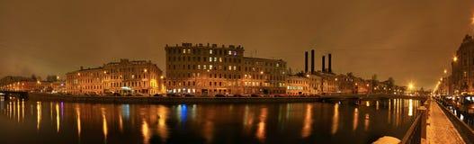 St Petersburg Fontanka flod Royaltyfri Fotografi