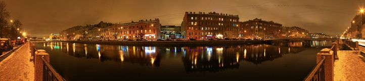 St Petersburg Fontanka flod Royaltyfri Bild