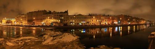 St Petersburg Fontanka flod Royaltyfria Bilder