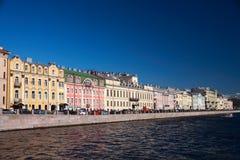St Petersburg Fontanka invallning Fotografering för Bildbyråer