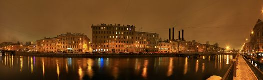 St. Petersburg, Fontanka river Royalty Free Stock Photography