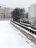St. Petersburg Fontanka river embankment Royalty Free Stock Images