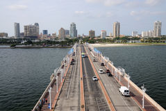 St. Petersburg From The Pier, Florida Stock Photo