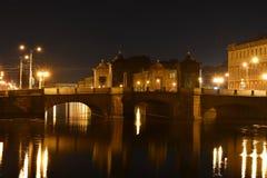 St Petersburg gammal Kalinkin bro Arkivfoton