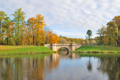 St. Petersburg, Gatchina in autumn Royalty Free Stock Image