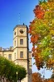 St Petersburg. Gatchina. Hösten i slott parkerar Arkivfoton