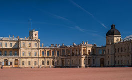 St. Petersburg, Gatchina Palace. Palace Square and the main entrance. Royalty Free Stock Photography