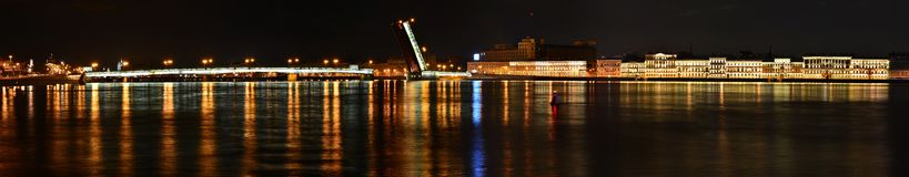 St Petersburg gjuteribro Arkivfoto