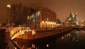 St Petersburg Griboyedov kanal Royaltyfri Bild