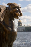 St. Petersburg. Griffin Royalty Free Stock Photos