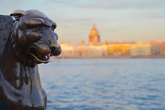 St. Petersburg, griffon`s statue Stock Images