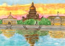 St. Petersburg, het schilderen Stock Foto
