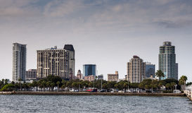 St Petersburg horisont, Florida Arkivfoto