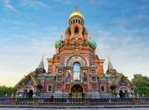 St Petersburg - iglesia del salvador en sangre derramada, Rusia fotografía de archivo