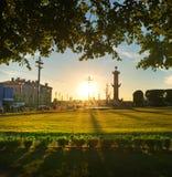 St Petersburg, ilha de Vasilevsky Imagem de Stock