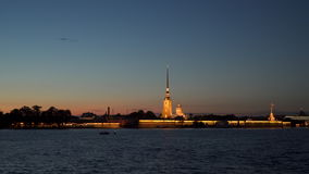 St. Petersburg Illumination of the Peter and Paul Fortress stock video footage
