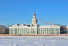 St Petersburg im Winter. Kunstkamera Stockbild