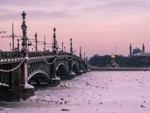St Petersburg in inverno fotografia stock libera da diritti