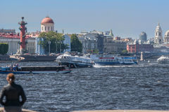 St. Petersburg and its attraction. Petersburg city on the Neva River and its beauty Royalty Free Stock Photography
