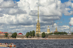 St. Petersburg and its attraction. Saint Petersburg city on the Neva River and its beauty Stock Photos