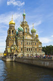 St. Petersburg, katedra jezus chrystus na krwi Zdjęcia Stock