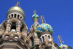 St. Petersburg Kathedraal van de Redder op bloed Royalty-vrije Stock Afbeeldingen