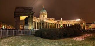 St Petersburg Kazan domkyrka Fotografering för Bildbyråer