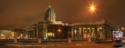 St Petersburg Kazan domkyrka Royaltyfri Foto