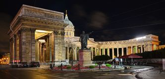 St Petersburg Kazan domkyrka Arkivfoto