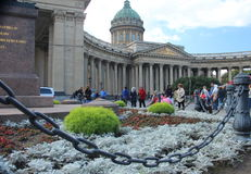 St Petersburg: Kazan domkyrka Royaltyfri Bild