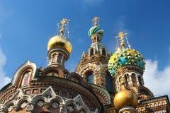 St Petersburg: Kirche des Retters auf Blut Stockbilder