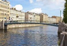 St. Petersburg, Kolomenskiy bridge Royalty Free Stock Photography