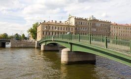 St Petersburg Krasnoarmeyskiy bro Fotografering för Bildbyråer