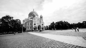 St Petersburg Kronshtadt Rosja Czerwiec 19 2018 Morska St Nicholas katedra w Kronstadt obrazy royalty free