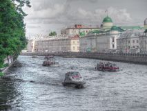 15 06 St Petersburg 2017 La Russie Neva River Vue de St Petersburg Photographie stock libre de droits