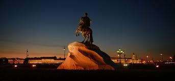 St Petersburg, le cavalier en bronze Image libre de droits