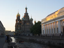 St Petersburg. Le sauveur sur le sang images stock