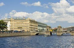 St. Petersburg, Lomonosov bridge on river Fontanka Stock Image