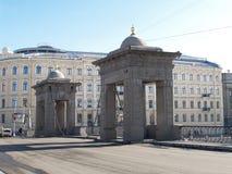 St. Petersburg. Lomonosovsky Bridge through the Fontanka River Royalty Free Stock Photos