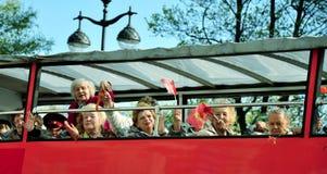 St. Petersburg - 9 MEI: De parade gewijd aan Victory Day Stock Afbeeldingen