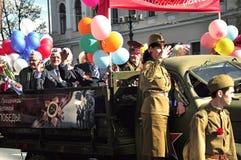St. Petersburg - 9 MEI: De parade gewijd aan Victory Day Royalty-vrije Stock Foto's