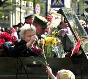 St. Petersburg - 9 MEI: De parade gewijd aan Victory Day Stock Foto