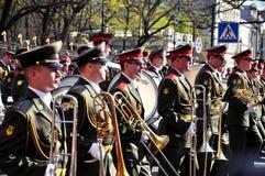St. Petersburg - 9 MEI: De parade gewijd aan Victory Day Stock Foto's