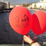 St. Petersburg - 9 MEI: De parade gewijd aan Victory Day Stock Fotografie