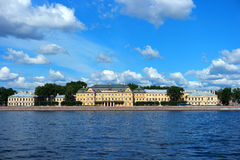 St. Petersburg Menshikov Palace. St. Petersburg, Menshikov Palace, the view across the river Neva Stock Photos
